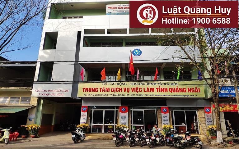 Trung tâm dịch vụ việc làm tỉnh Quảng Ngãi