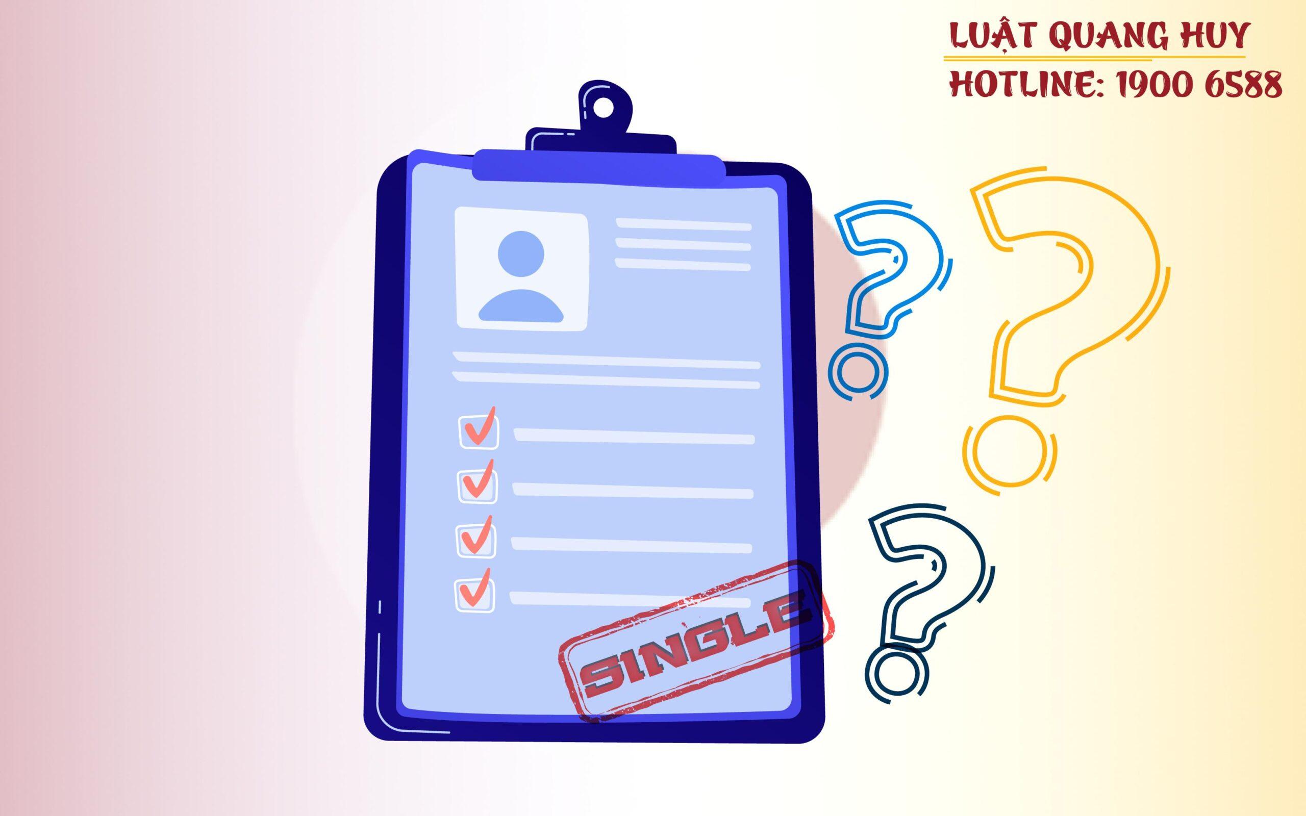 Giấy chứng nhận độc thân sau ly hôn là gì?