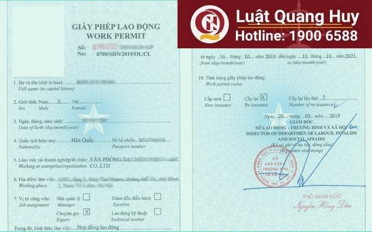 Quy trình cấp giấy phép lao động cho người nước ngoài tại Việt Nam