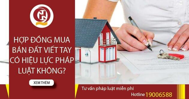 Hợp đồng mua bán đất viết tay