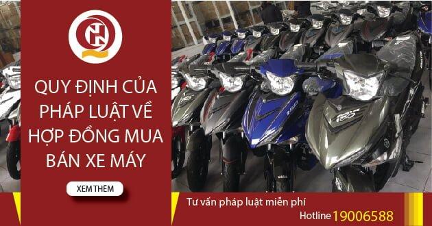 Hợp đồng mua bán xe máy