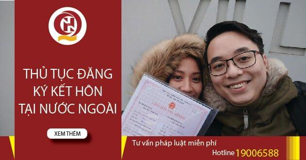 Thủ tục đăng ký kết hôn tại nước ngoài