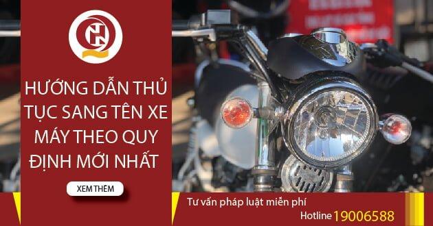 Thủ tục sang tên xe máy